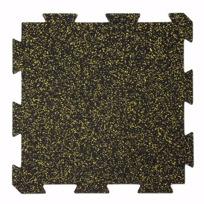 Picture of 1 piece sports mat 60x60x1 cm yellow puzzle