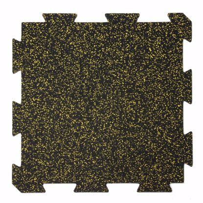 Immagine di 1 pezzo tappeto sportivo 60x60x1 cm giallo puzzle