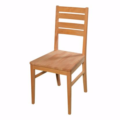 Picture of Solid beech dining chair without armrest * Oiled * Extremely robust