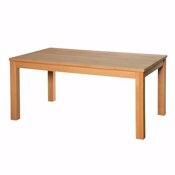 Image sur Table de salle à manger en hêtre massif 100 x 160 cm * Huilé