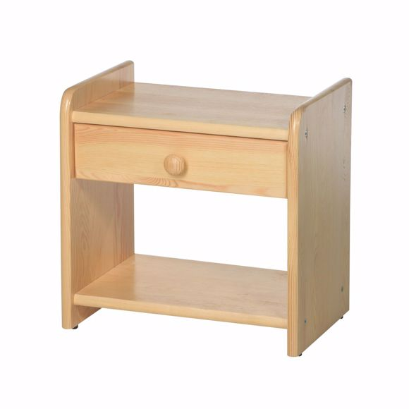 Picture of Bedside table made of solid pine wood 41.5 x 42 cm