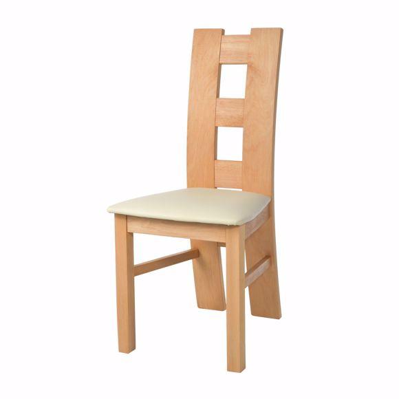 Image sur Chaise ROM pour table à manger tapisserie hêtre beige