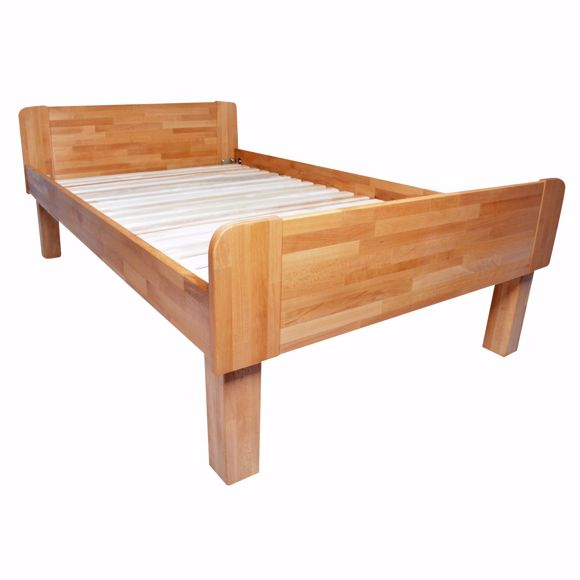 Picture of ADINA single bed with comfort height made of solid beech 120x200cm