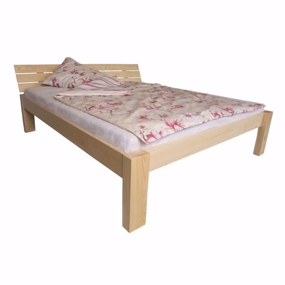 Picture of ARAM solid wood bed made of pine wood 200x200cm