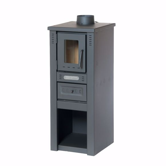 Picture of LAVA stove Basic glass with window 33x36x81cm continuous burning stove 8 kw