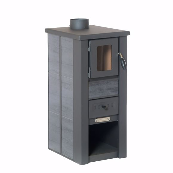 Picture of LAVA stove Ceramic anthracite with window 35x44x82 cm