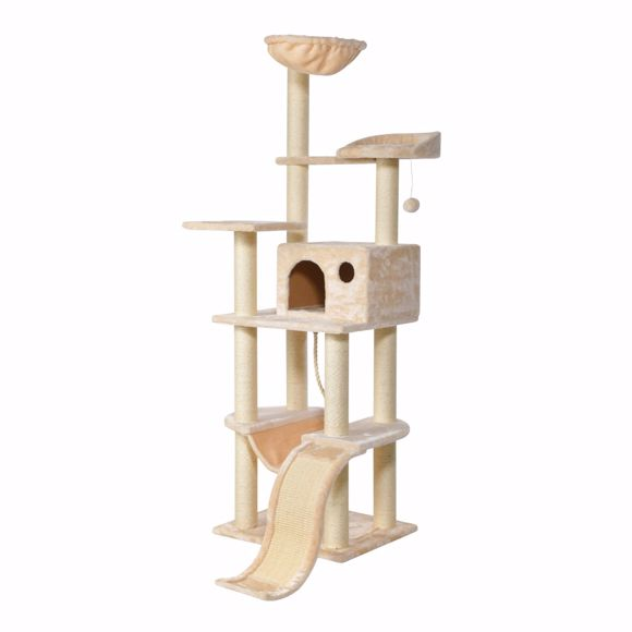 Picture of Sally cat scratching tree with hammock 167cm beige