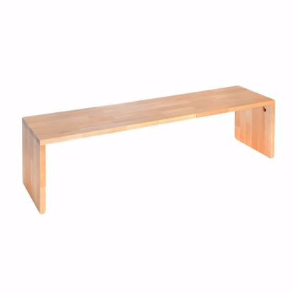 Picture of Bench solid beech without backrest 115x44x40 cm