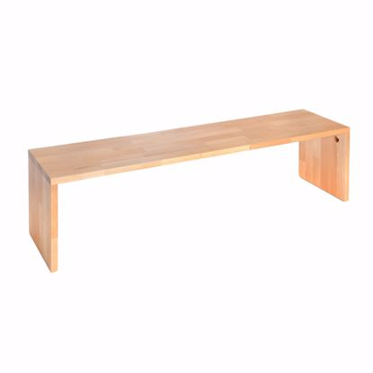 Picture of Bench solid beech without backrest 190x44x40 cm