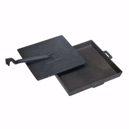 Picture of Panini pan L cast iron with lid