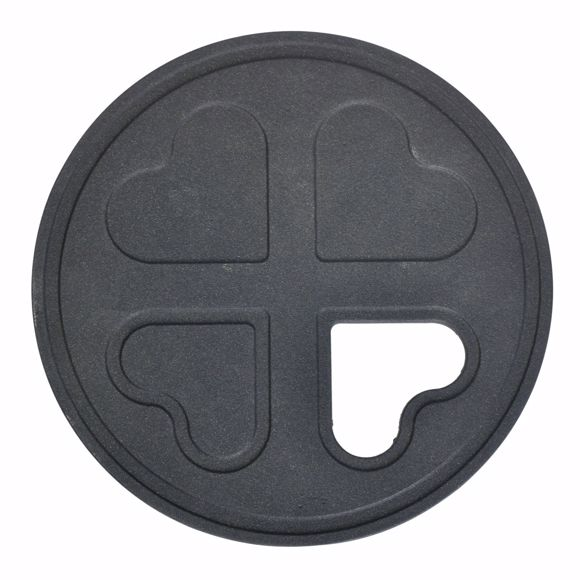 Picture of Coaster heart round cast iron for pots and pans 22 cm