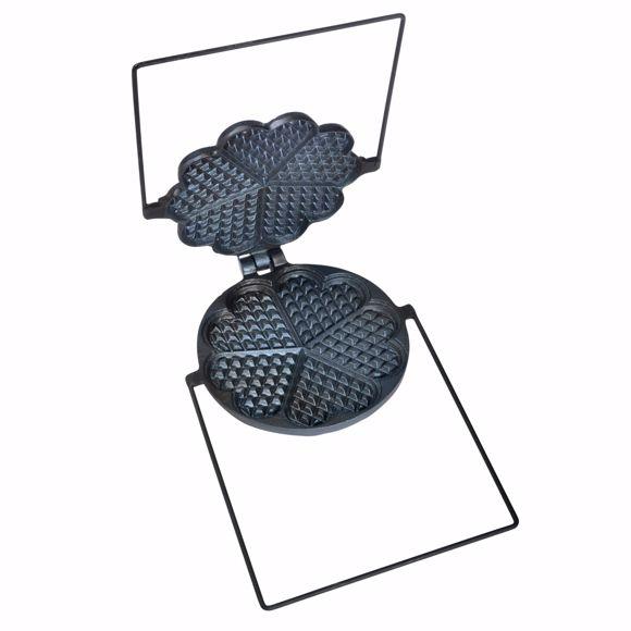 Obrazek Wysokiej jakosci tradycyjne zeliwo waflowe 17,5 cm
