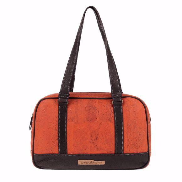 Bild von REGENT Handtasche für Damen aus Kork 36 x 24 x 9 cm Orange