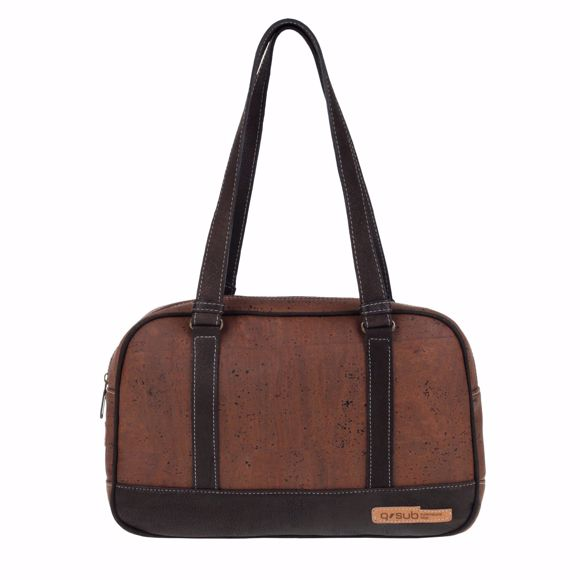 Picture of REGENT Handbag for ladies made of cork 36 x 24 x 9 cm Brown