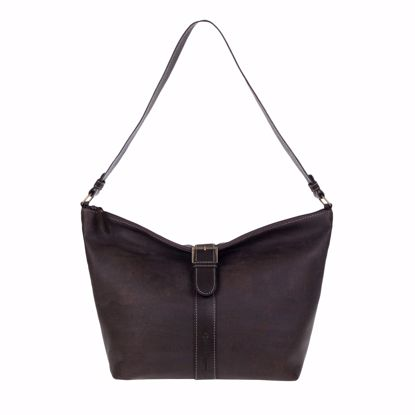Picture of ASCOTT ladies handbag made of cork and leather, 44 x 31 x 10 cm brown