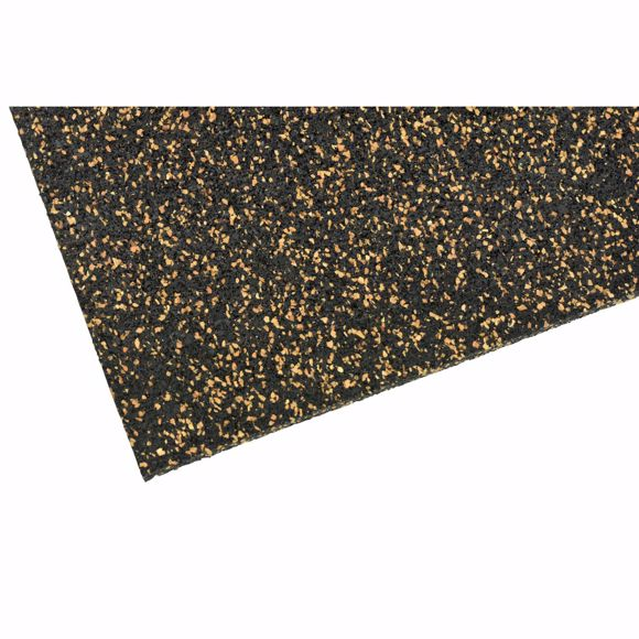 Picture of Pinboard rubber cork board 50 x 100 cm - 5 mm thick[
