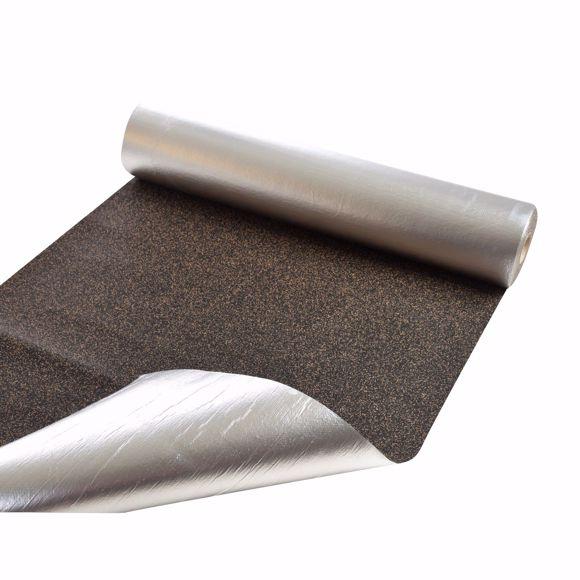 Image sur Isolation phonique en liège caoutchouc avec feuille d'aluminium 105m x 10m