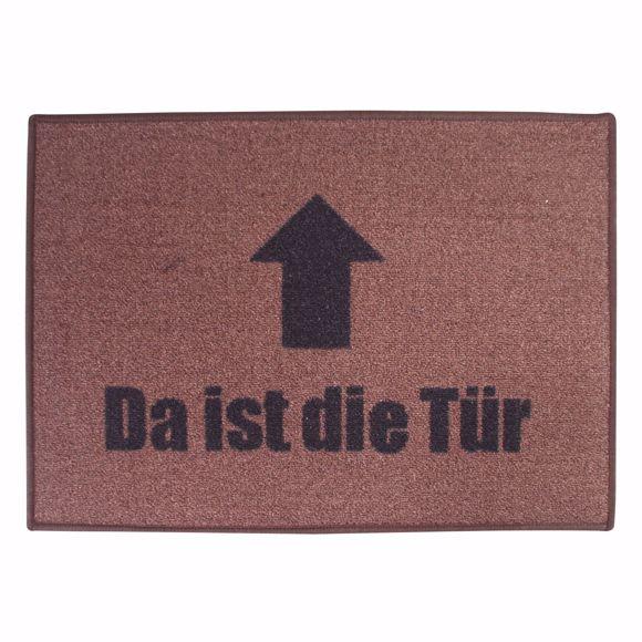 "Picture of Dirt trap mat ""DA IST DIE TÜR""  70x50cm"