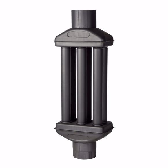 Bild von Warmlufttauscher 150 mm/ 90 cm Rauchgaskühler  Rauchrohr Abgaswärmetauscher