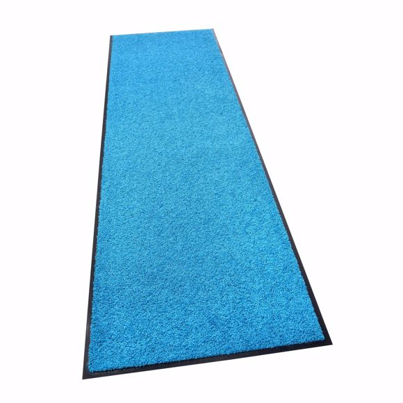 Obrazek Mata do usuwania zanieczyszczen ZANZIBAR niebieski 60x180cm
