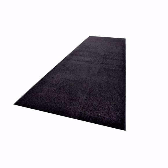 Picture of ZANZIBAR dirt-trapping mat black 90 x 300 cm in rolls