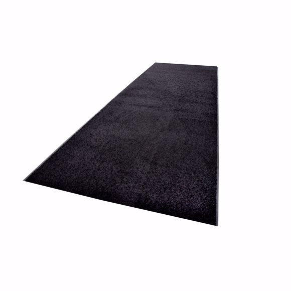 Picture of ZANZIBAR dirt-trapping mat black 90 x 1000 cm in rolls
