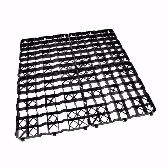 Picture of 8x lawn grid plastic plate 50 x 50 x 4 cm - passable - 2 m²
