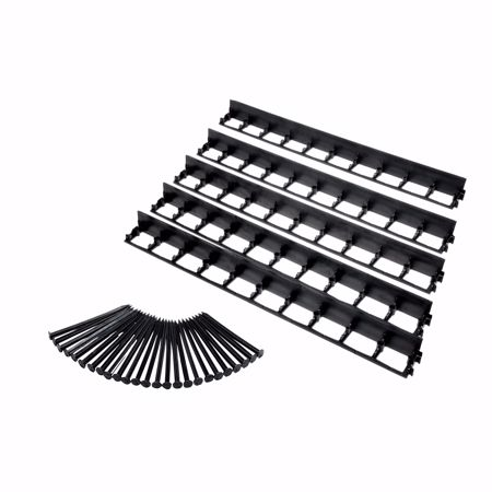 Picture of 5 pcs Elastic lawn edge made of plastic, black, 100 cm