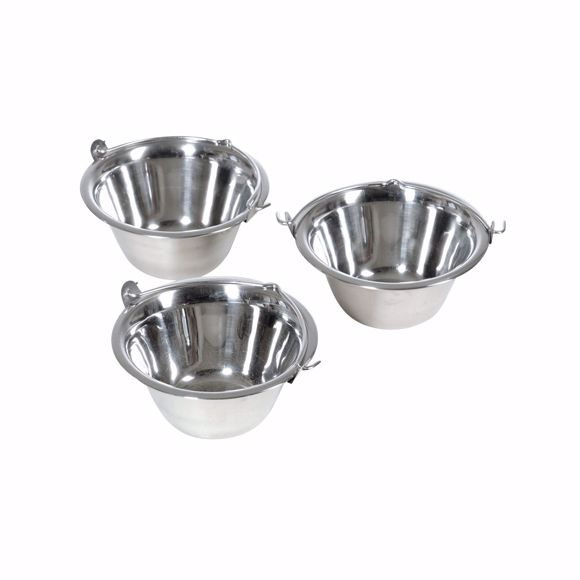 Picture of 3 pieces 0.8 litre stainless steel dining bowls with handle