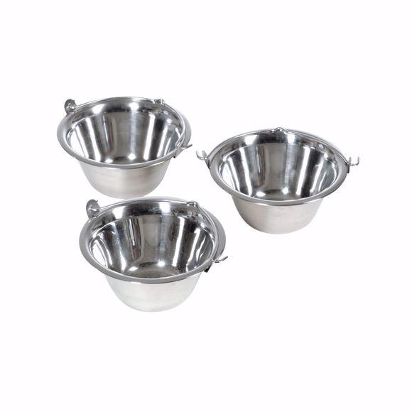 Bild von Kesselgulasch Essschüsseln aus Edelstahl Gulaschtopf  3 Stück 0,8 Liter