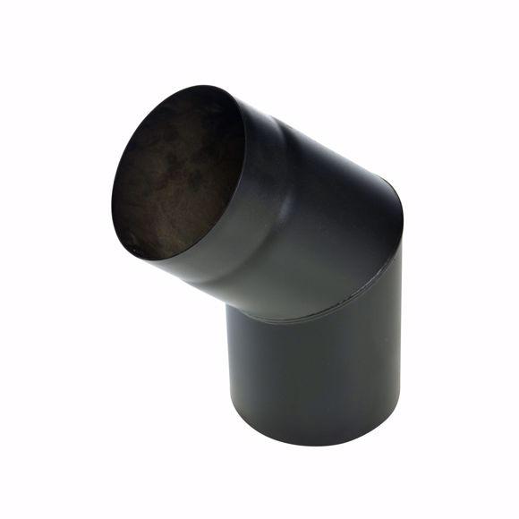 Foto de Curvatura del tubo de la estufa 45 grados 130mm