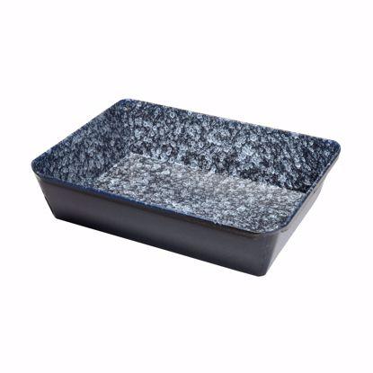 Obrazek Ksztalt pieca emaliowanego kwadratowy 20x28x6 cm