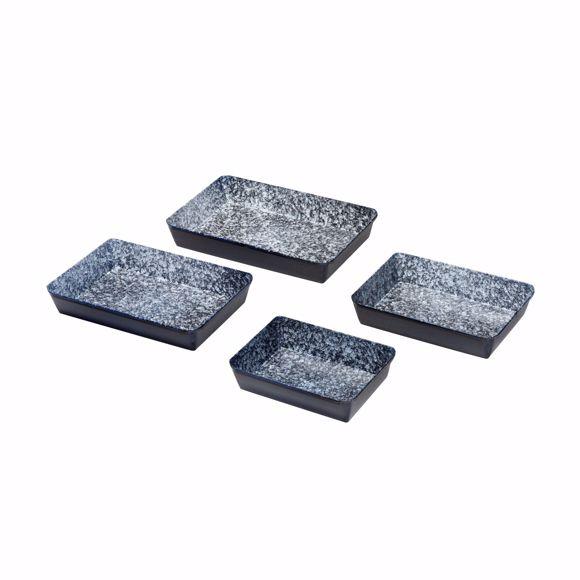 Bild von Emaille Ofenform 4er Set rechteckig Auflaufform Backform Backofenform