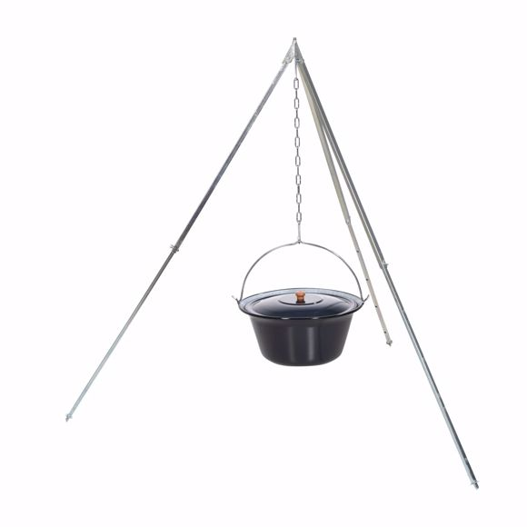 Picture of Original Hungarian goulash kettle (10 litres) + 170cm tripod frame