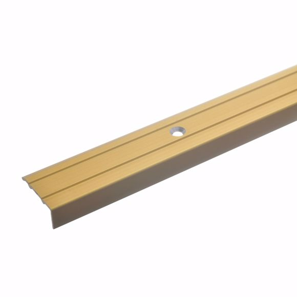 Picture of Angle profile gold 100 cm - 24.5 mm wide including screws and dowels aluminium