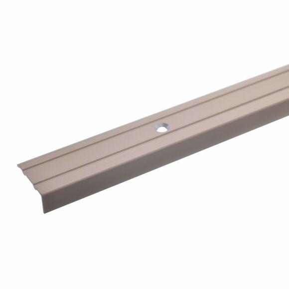 Image sur Profilé d'angle bronze clair 100 cm - 24,5 mm de large, vis et chevilles comprises