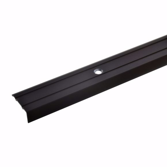 Picture of Angle profile bronze dark 100 cm - 24.5 mm wide including screws and dowels
