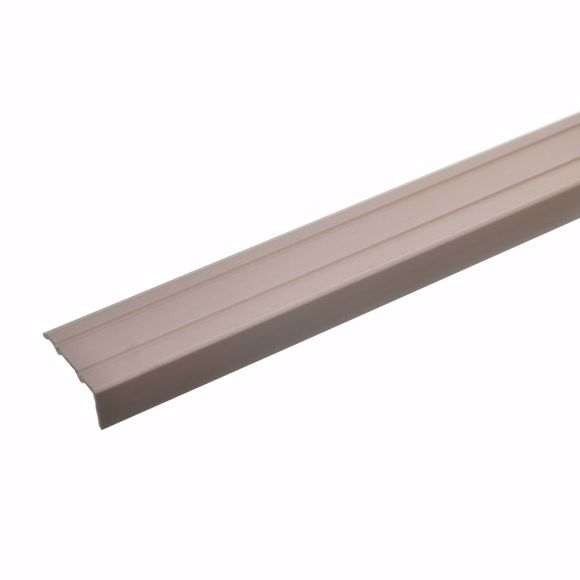 Immagine di Profilo angolare bronzo chiaro 100 cm - 24,5 mm di larghezza alluminio anodizzato autoadesivo in all