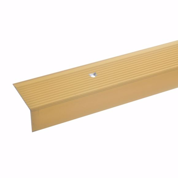 Picture of 20x40mm stair angle 100cm long gold