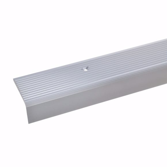 Picture of 23x40mm stair angle 100cm long silver drilled