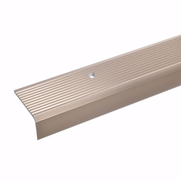 Picture of 23x40mm stair angle 100cm long bronze light drilled