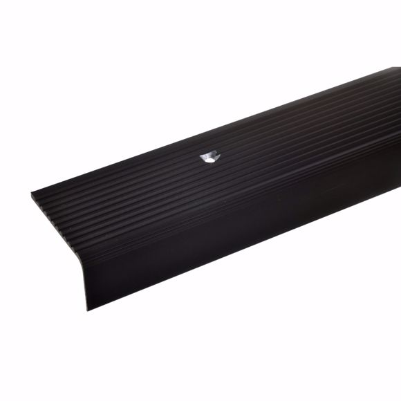 Picture of 23x40mm stair angle 100cm long bronze dark drilled