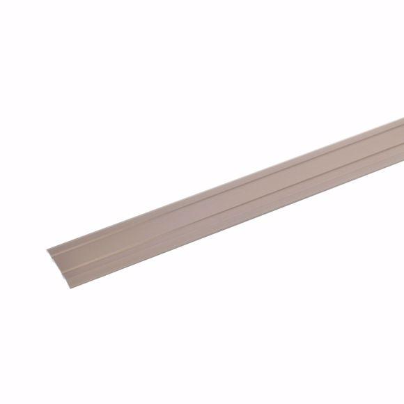 Picture of Transition profile 100cm bronze bright 24,5 x 1,25mm self-adhesive aluminium carpet rail