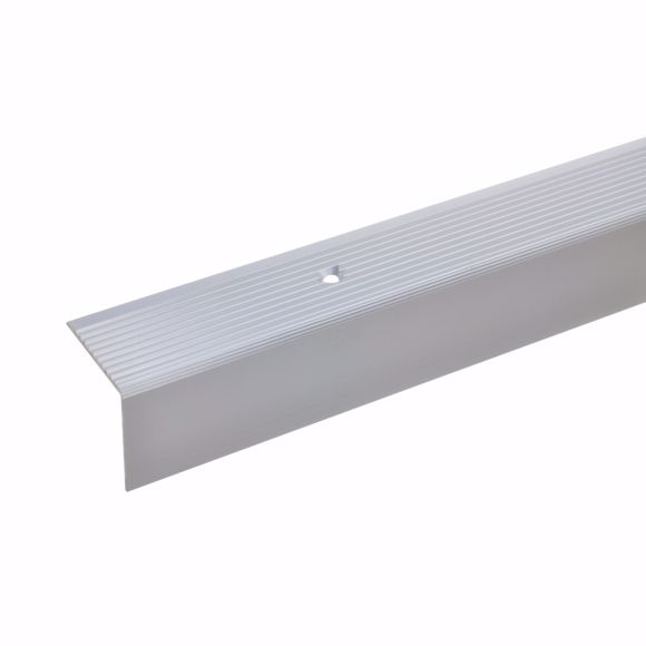 Picture of 30x30mm stair angle 100cm long silver drilled