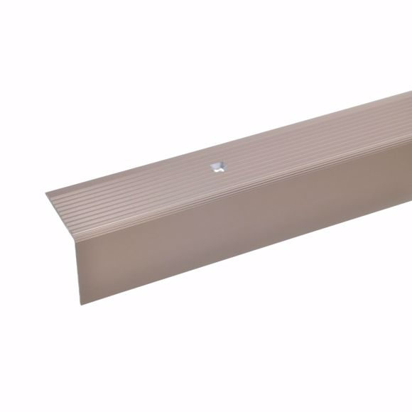 Picture of 30x30mm stair angle 100cm long bronze light drilled