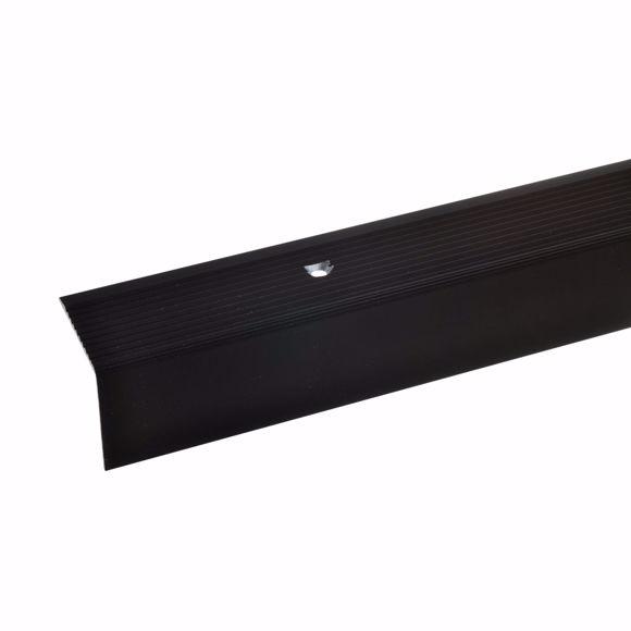 Image sur 30x30mm angle d'escalier 100cm long bronze foncé percé