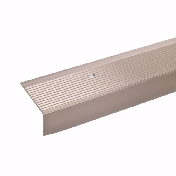 Picture of 28x50mm stair angle 100cm long bronze light drilled