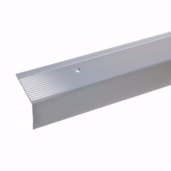 Picture of 42x50mm stair angle 100cm long silver drilled