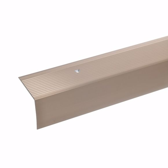 Picture of 42x50mm stair angle 100cm long bronze light drilled