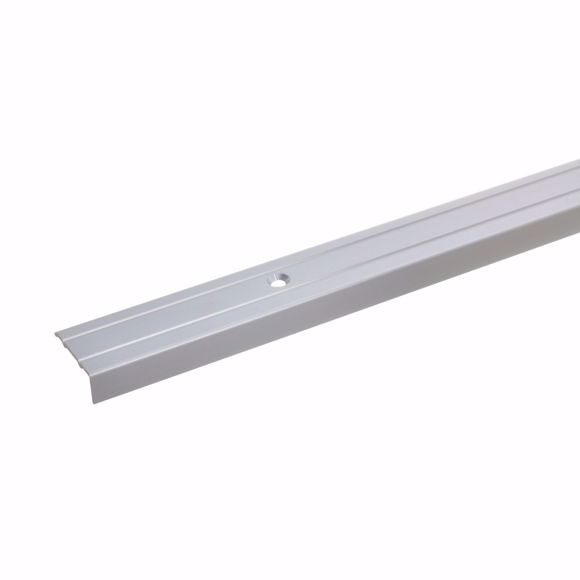 Picture of 10x24,5mm stair angle 120cm silver aluminium edge protection edge profile